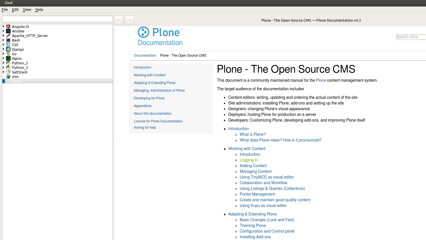 Make usage of docs more convenient - Documentation - Plone