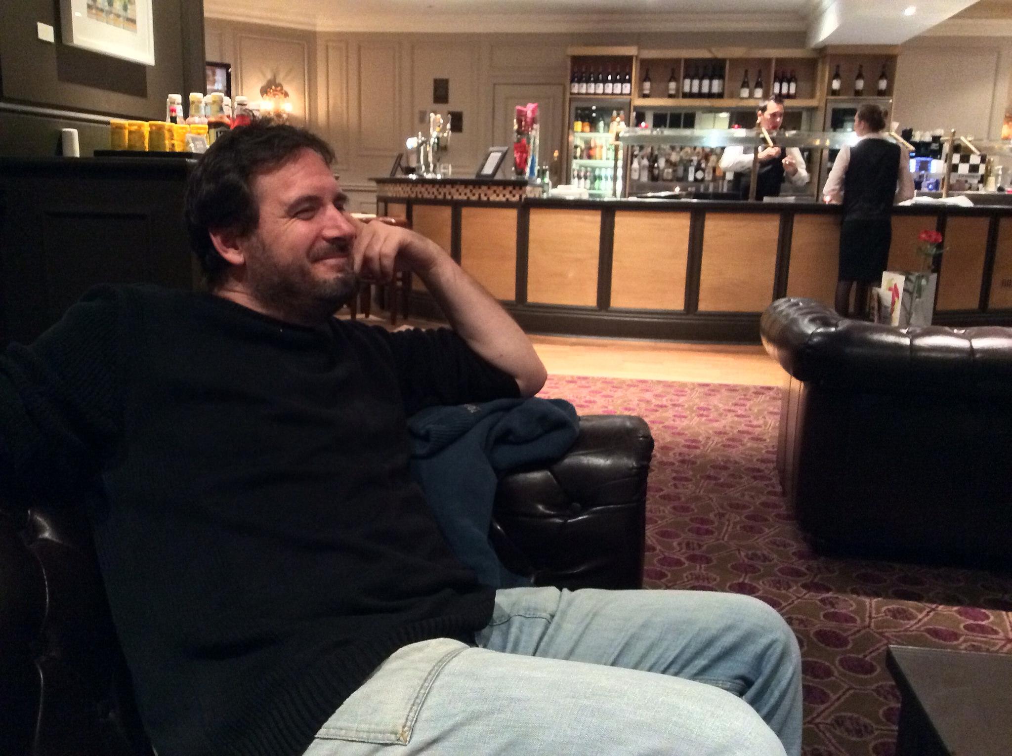 Philip relaxing