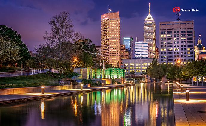 Indianapolis Skyline Reflection