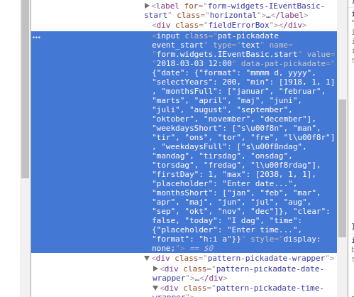 Datepicker 24 hour format - Plone Community
