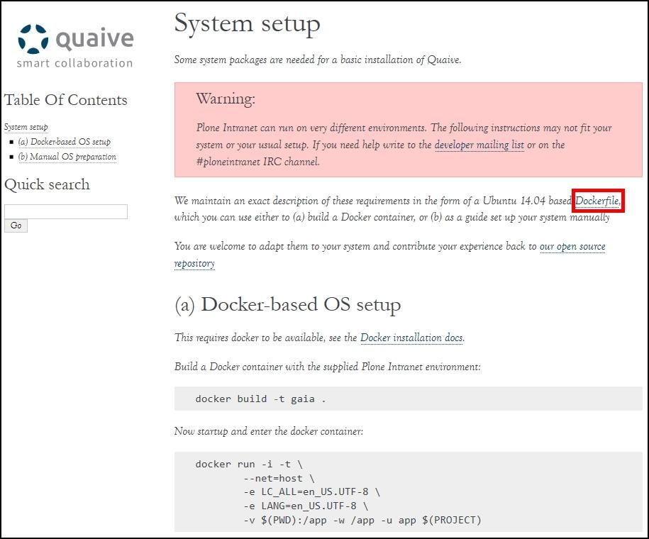 Plone Intranet Quick Start (a) Docker-based OS setup - Using Plone