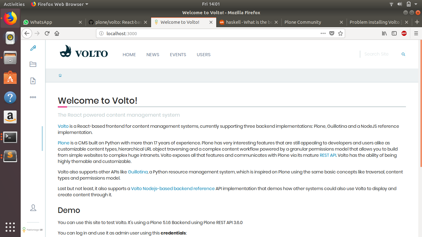 Problem in setting up volto - Plone Community